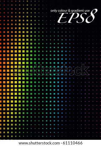Abstract mosaic background, eps8 vector illustration. - stock vector