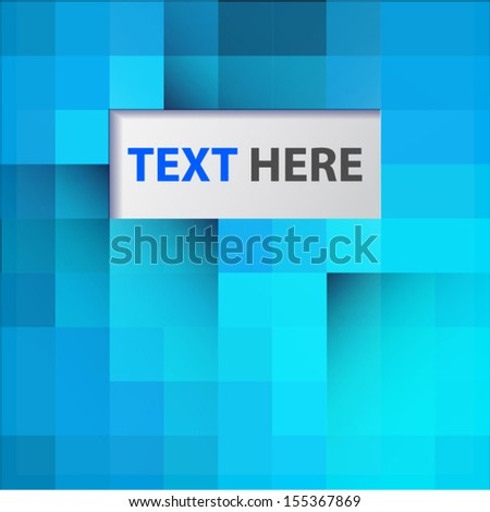 Abstract mosaic background with place for text - stock vector