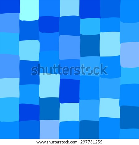 abstract mosaic bright colorful blue  design. Vector Illustration - stock vector