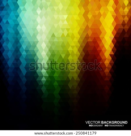 Abstract mosaic color background. Vector illustration does not contain gradients and transparency - stock vector