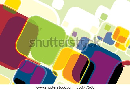 Abstract mosaic colorful background. Vector illustration. - stock vector