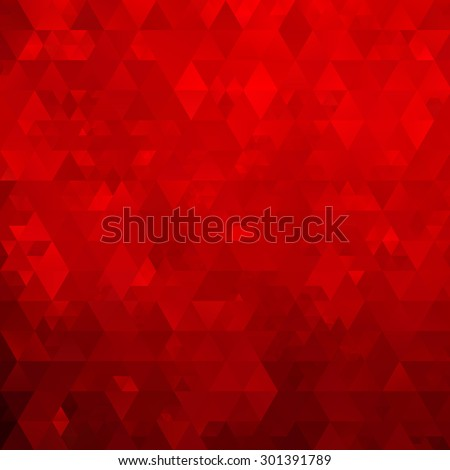 Abstract mosaic geometrical red background - stock vector
