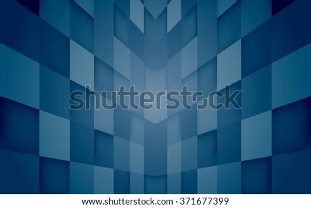 Abstract mosaic hi-tech blue background. Vector. Clip-art - stock vector