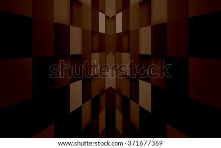Abstract mosaic hi-tech brown background. Vector. Clip-art - stock vector