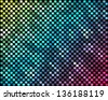 Abstract mosaic neon background_3 - stock vector