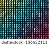 Abstract mosaic neon background - stock vector