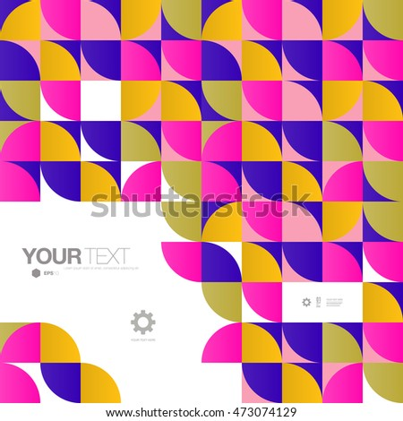 Abstract mosaic pattern background wallpaper with minimal text design  Eps 10 stock vector illustration