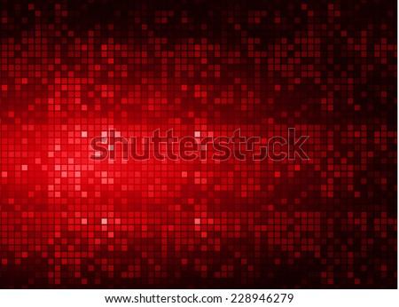 abstract mosaic red background with gloss - stock vector