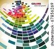abstract mosaic style design art - stock vector