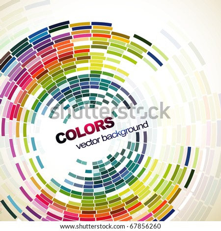 abstract mosaic style design art - stock vector