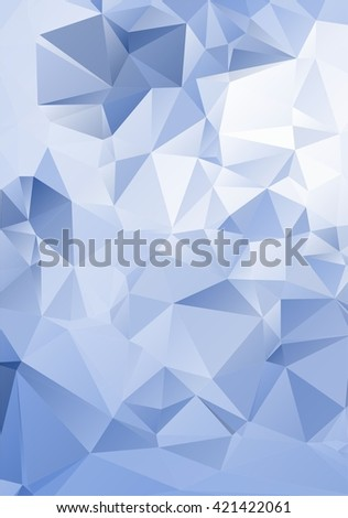 Abstract mosaic triangular low poly style gradient illustration graphic background. Crystal clear background texture. Diamond style