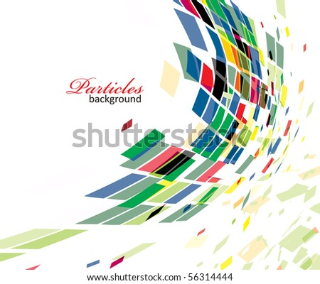 abstract mosaic vector composition.