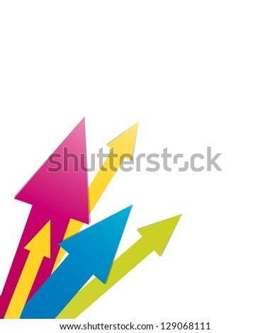 Abstract multicolor background made out of various size arrows / arrow background
