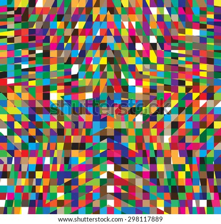 Abstract Multicolor Hypnotic Background. Vector Illustration EPS10 - stock vector