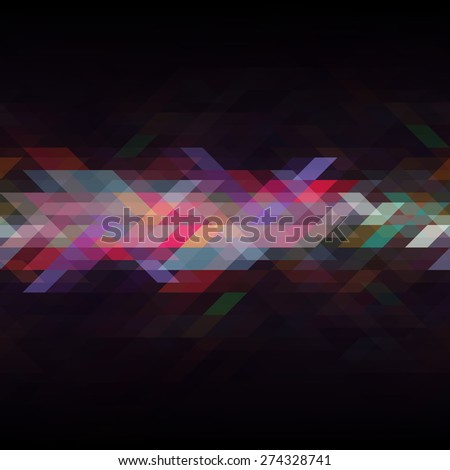 Abstract multicolor triangle geometrical background. Vector illustration