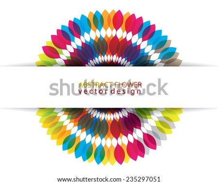 Abstract multicolor with space for your message design - stock vector