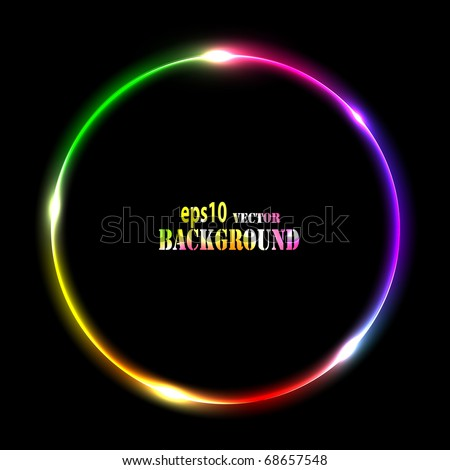 Abstract multicolored circle. Vector eps10 illustration - stock vector