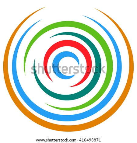 Abstract multicolored circular element. Concentric circles, rings. - stock vector