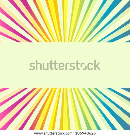 Abstract multicolored divergent stripes background