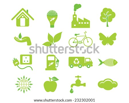 abstract multiple eco icon vector illustration