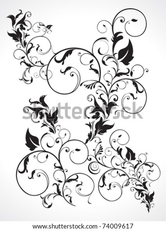 abstract multiple floral  vector illustration - stock vector