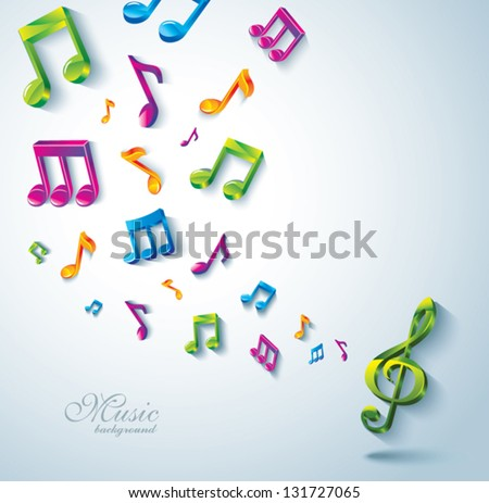 Abstract music background. - stock vector