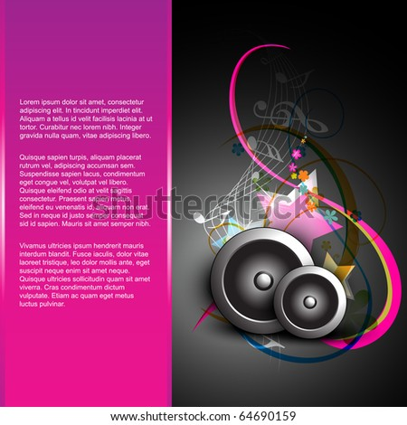 abstract music background design - stock vector
