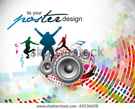 Abstract music background for music event design. vector illustration. - stock vector
