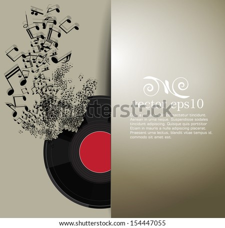 Abstract music background vector - stock vector