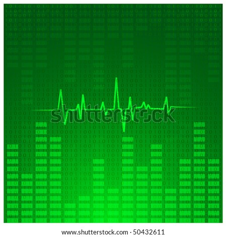Abstract music chart background. Eps10. - stock vector