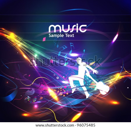Abstract music dance background for music event design. vector illustration. - stock vector
