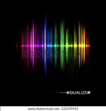 Abstract music equalizer. Eps 10 - stock vector