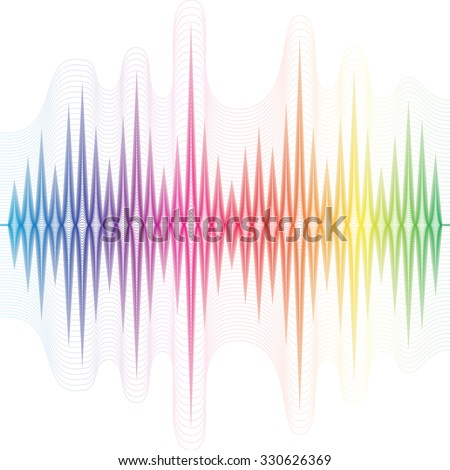 Abstract music equalizer. Vector - stock vector