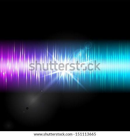 Abstract music equalizer. Vector illustration.