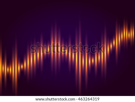 Abstract music equalizer, wave style vector background