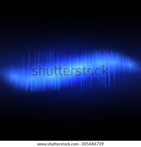 Abstract music equalizer waveform. Vector illustration EPS10