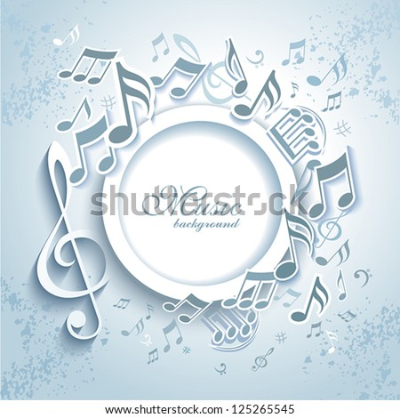 Abstract Music Frame. - stock vector