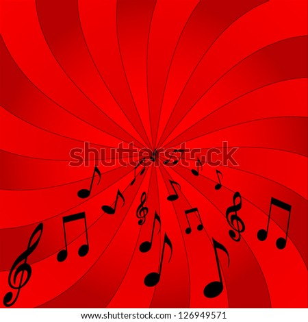 abstract music notes design - stock vector