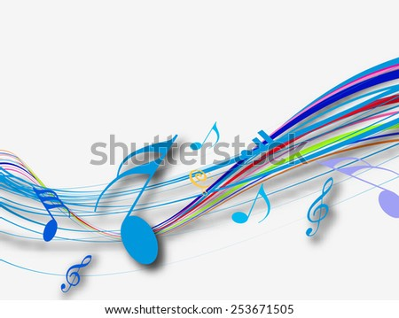 Abstract Music notes for music background design use, vector illustration