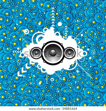 Abstract music party background - stock vector