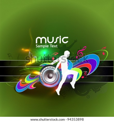 Abstract music poster design. vector illustration. - stock vector