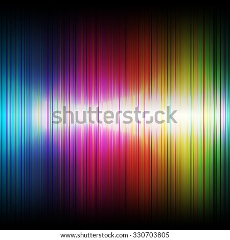 Abstract music rainbow equalizer on black background.