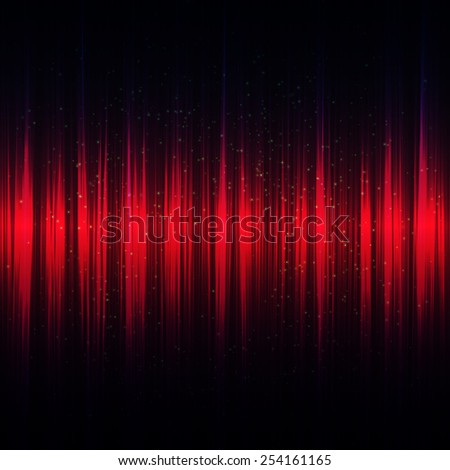 Abstract music red equalizer. Vector illustration. - stock vector