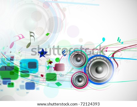 abstract music wave line background. vector illustration.