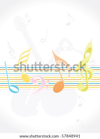 abstract musical background, vector illustration - stock vector