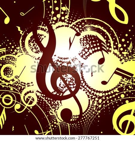 abstract musical composition, retro, vector illustration - stock vector