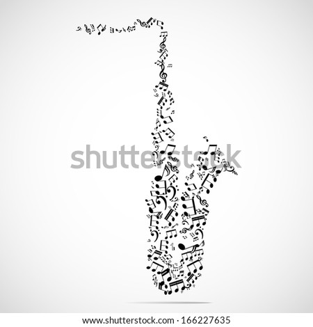 Abstract musical instrument background - stock vector