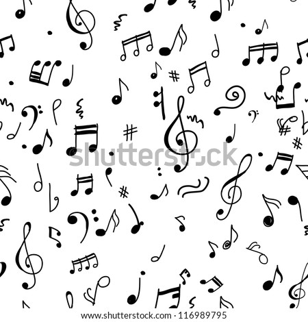 Abstract musical pattern for your design - stock vector