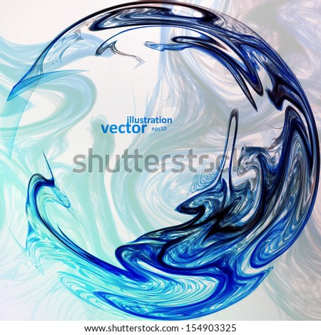 Abstract mystic vector background, futuristic wave illustration eps10 - stock vector