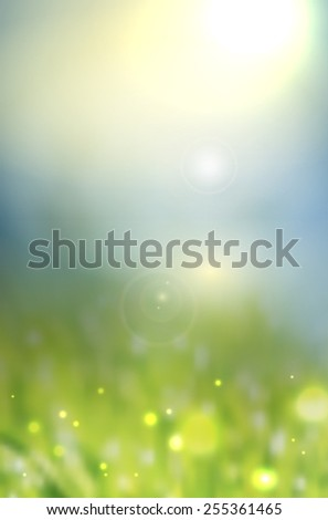 Abstract natural background with lights - vector illustration - stock vector